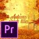 Autumn Woods Titles - Premiere Pro - VideoHive Item for Sale