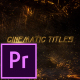 Cinematic Titles - Premiere Pro - VideoHive Item for Sale