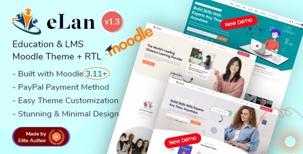 Elan - Education LMS Premium Moodle Theme
