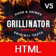 Grillinator - Food Restaurant Cafe Grill  Bar & Bistro HTML Template - ThemeForest Item for Sale