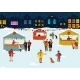 People at the Winter Fair in the Evening - GraphicRiver Item for Sale