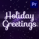 Holiday Magic Greetings | Premiere Pro MOGRT - VideoHive Item for Sale