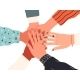People Put Their Hands Together As a Group United - GraphicRiver Item for Sale