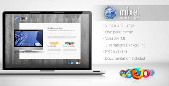 Mixel - Simple One Page Template