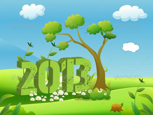 2013 Year in Green Landscape