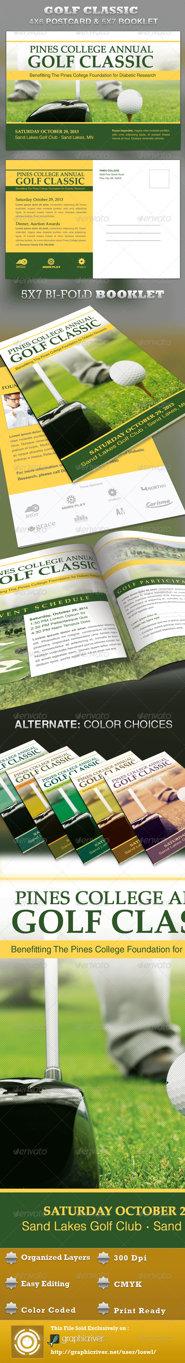 Golf Brochure Template Graphics, Designs & Templates