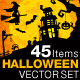 Halloween Vector Set Vol 01 - 45 Items - GraphicRiver Item for Sale