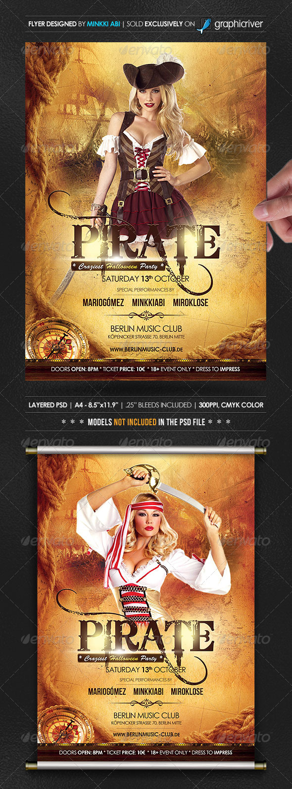 Pirate Flyer Graphics, Designs & Templates from GraphicRiver