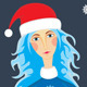 Girl Xmas Forest Night - GraphicRiver Item for Sale