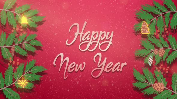 Happy New Year and Merry Christmas Elements 2021 Neon Animation 3d Motion Design for New Year