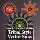 Tribal Style Vector Suns - GraphicRiver Item for Sale