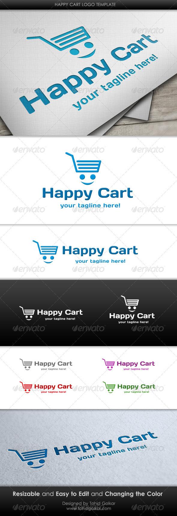 Happy Cart Logo Template