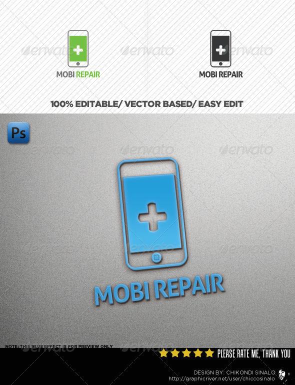 Mobi Repair Logo Template