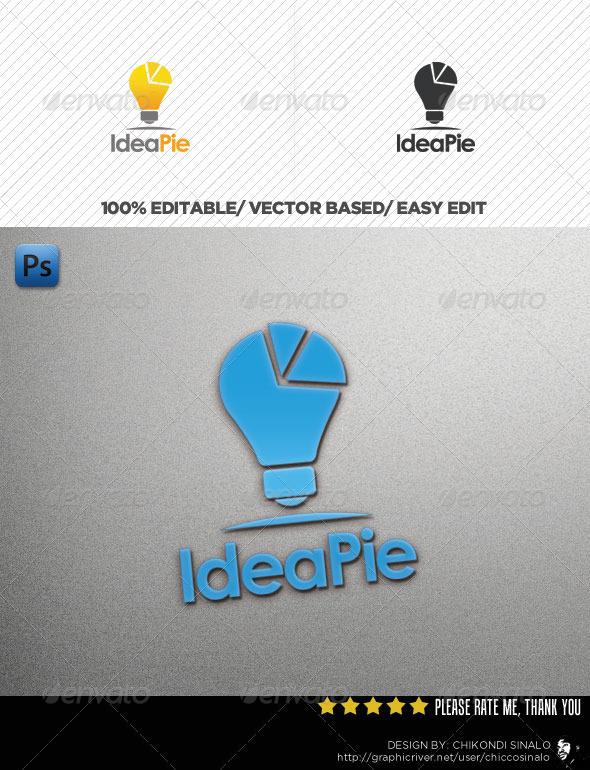 Idea Pie Logo Template
