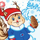 Squirrel as Santa Claus - GraphicRiver Item for Sale