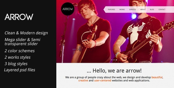 Arrow: Clean and Creative HTML Template