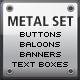 Web 2.0 Metal Set - GraphicRiver Item for Sale