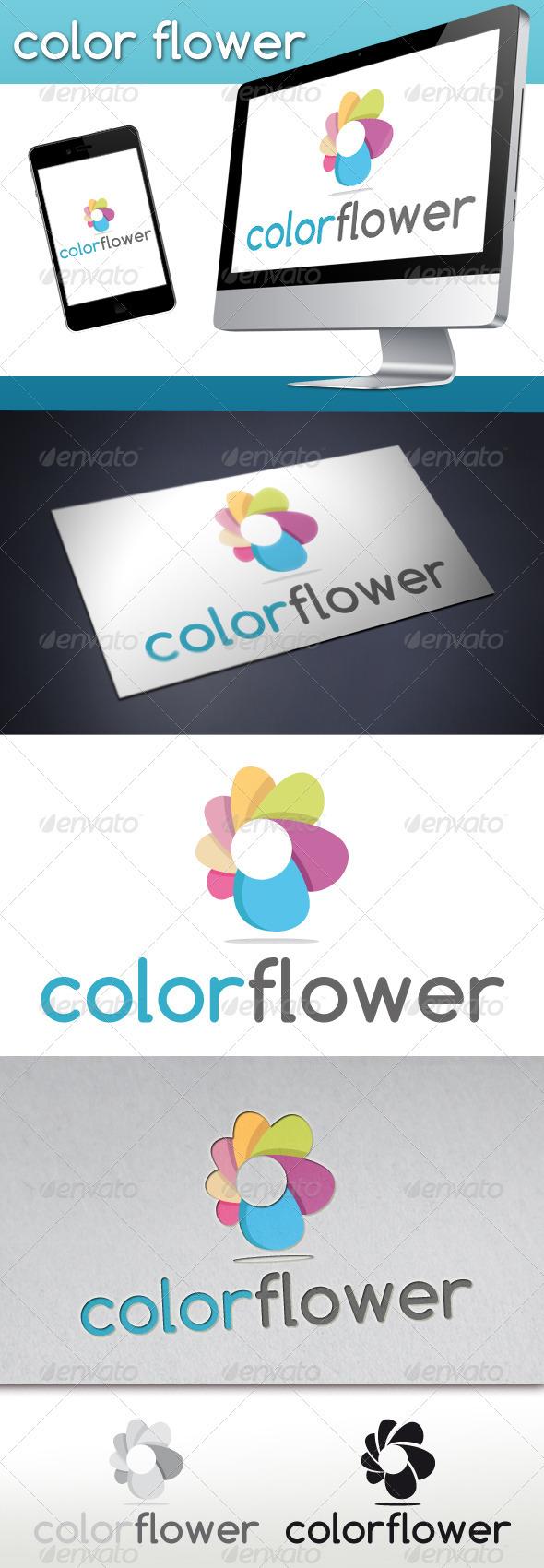 Colorful Flower logo
