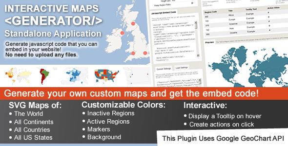 Interactive Maps Generator