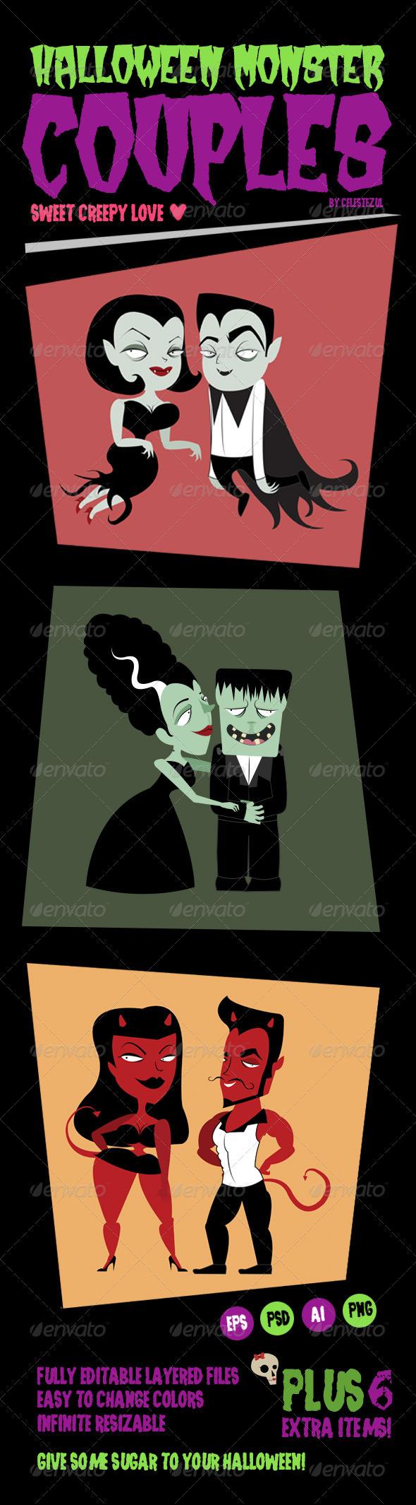 Halloween Monster Couples