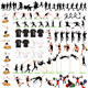88 Sport Silhouettes and T-shirts Set - GraphicRiver Item for Sale