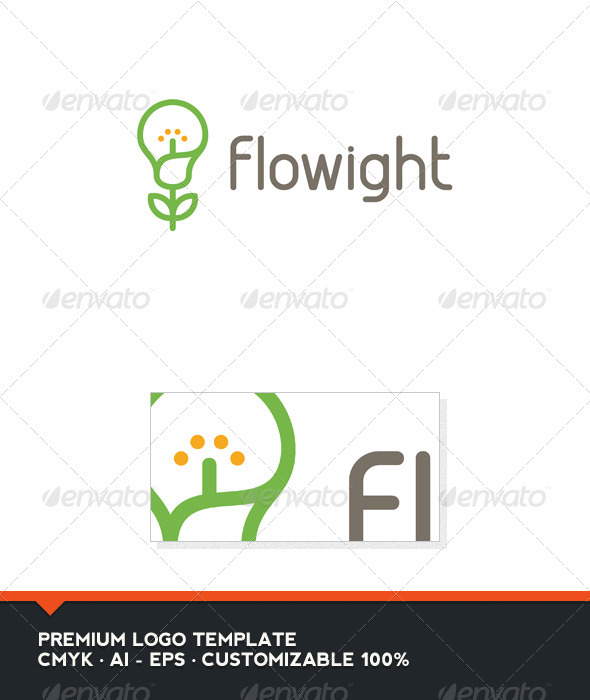 Flowight Logo Template