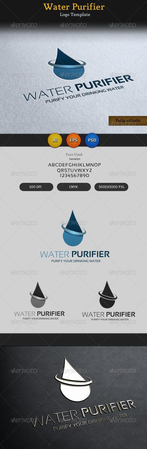 Water Purifier Logo Template