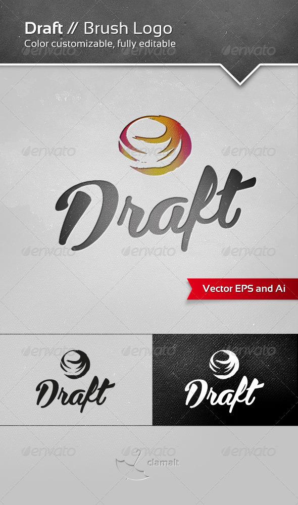 Draft Brush Logo