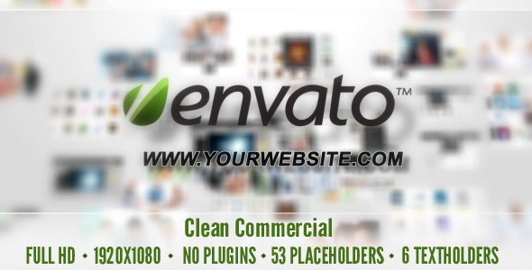Clean Commercial | After Effects Project download