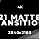 21 Alpha Mattes Transitions. 4K - VideoHive Item for Sale