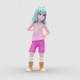 Cartoon Girl 2 with Dancing Hiphop - VideoHive Item for Sale