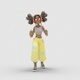 Cartoon Girl 3 with Dancing Running - VideoHive Item for Sale