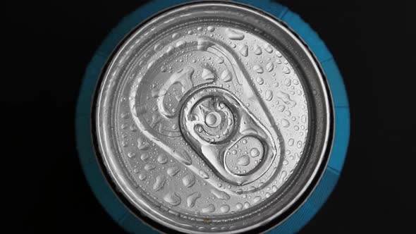 Aluminum Can with Carbonated Water
