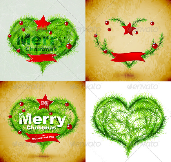 Vector Grunge Merry Christmas Backgrounds