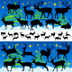 Reindeer Christmas Silhouettes and Isolated on Whi - GraphicRiver Item for Sale