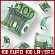100 Euro. 100 Layers PSD - GraphicRiver Item for Sale
