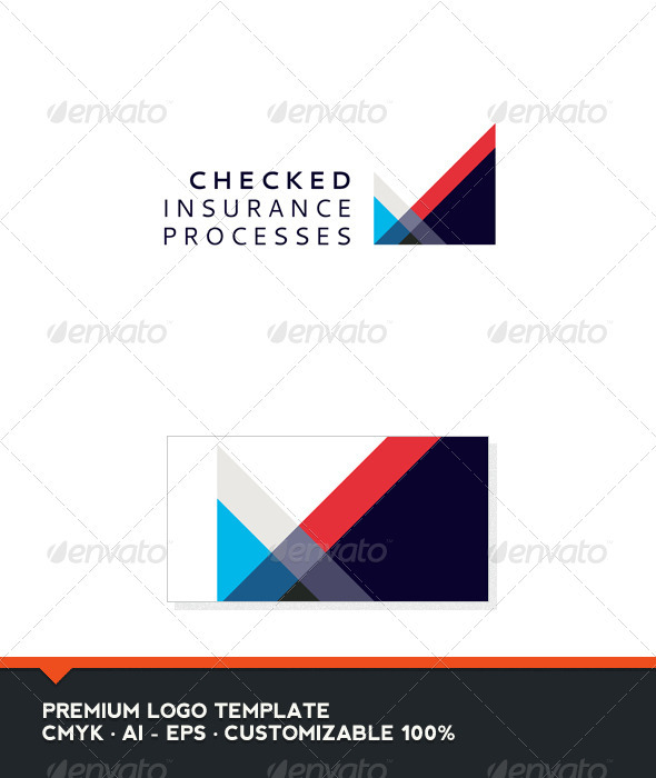 Abstract and Check Logo Template