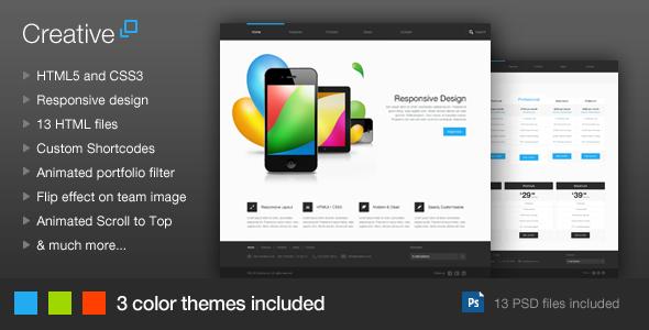 Creative – Responsive HTML Template