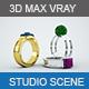 Realistic studio scene setup for 3D MAX