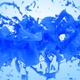 Two Blue Paint Streams Collision - VideoHive Item for Sale