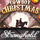 Download Vintage Cowboy Christmas Flyer Template from GraphicRiver