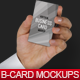 Business Card in a Businessman Hand Mockups - GraphicRiver Item for Sale