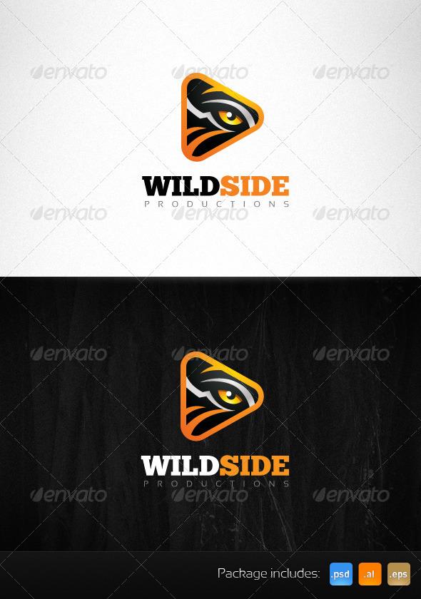 Wild Side Production Tiger Eye Creative Logo