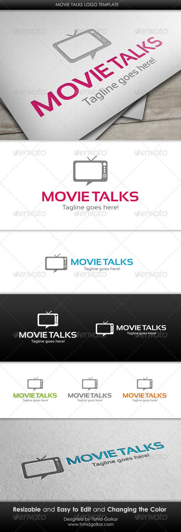 Movie Talks Logo Template
