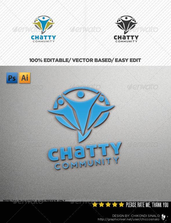 Chatty Community Logo Template