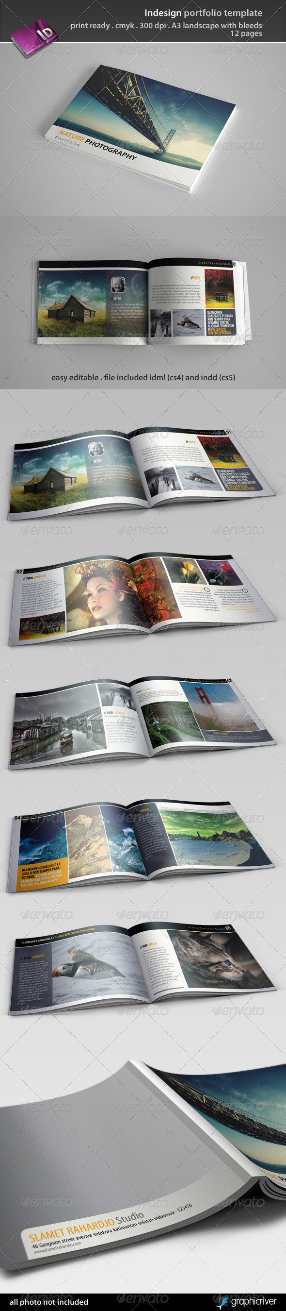 picture relating to Printable Portfolio Template known as Portfolio Brochure Templates versus GraphicRiver