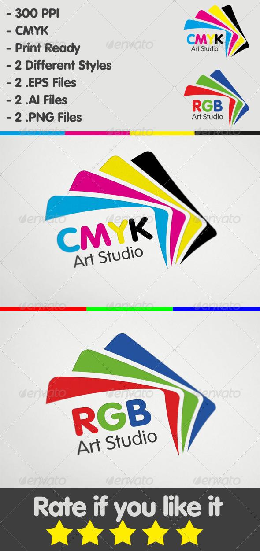 CMYK & RGB Art Studio Logo