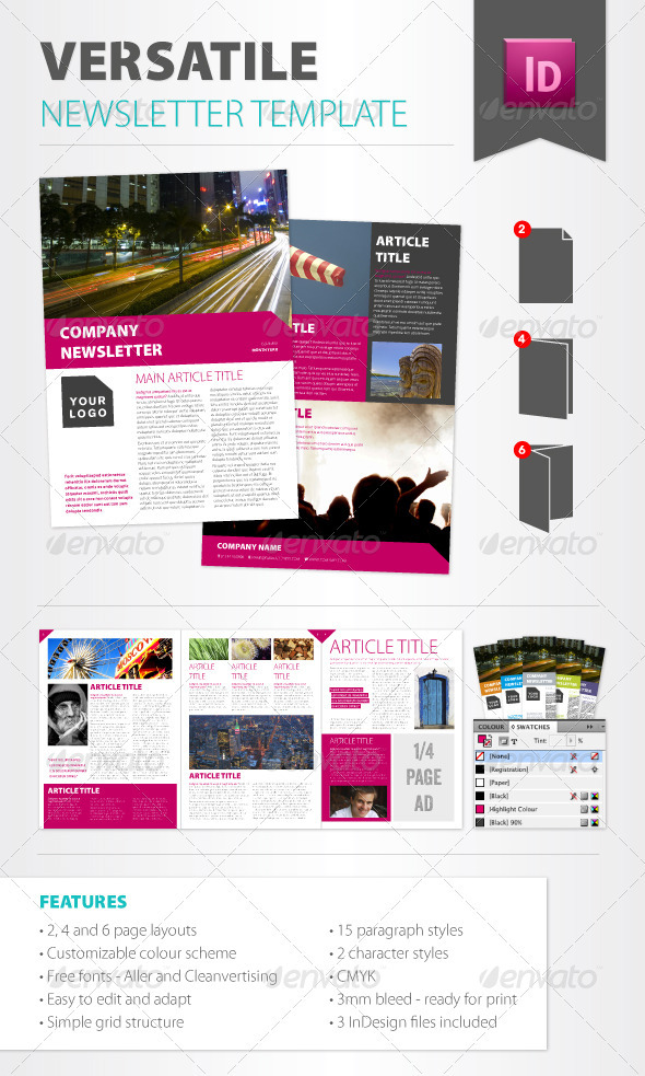 photo about Printable Newsletter Templates Free referred to as Publication Templates towards GraphicRiver