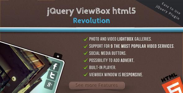 jQuery ViewBox HTML5 Revolution - Media Browser Download