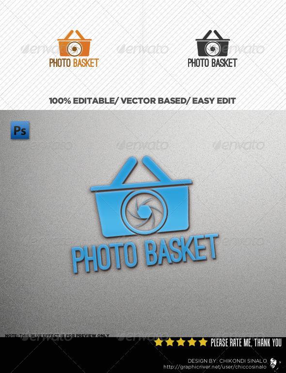 Photo Basket Logo Template